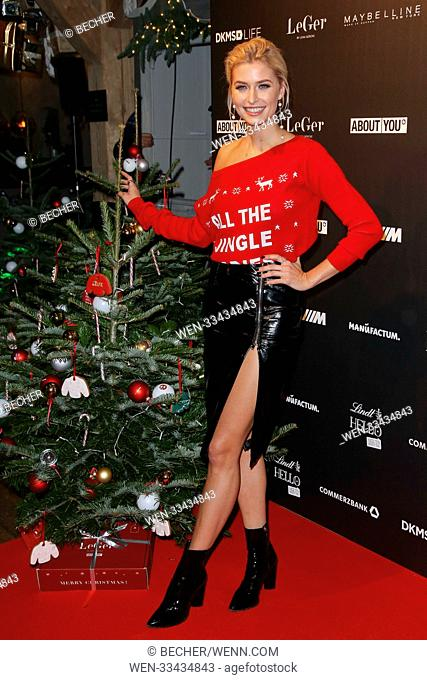 Lena Gercke Christmas Dinner Stock Photos And Images