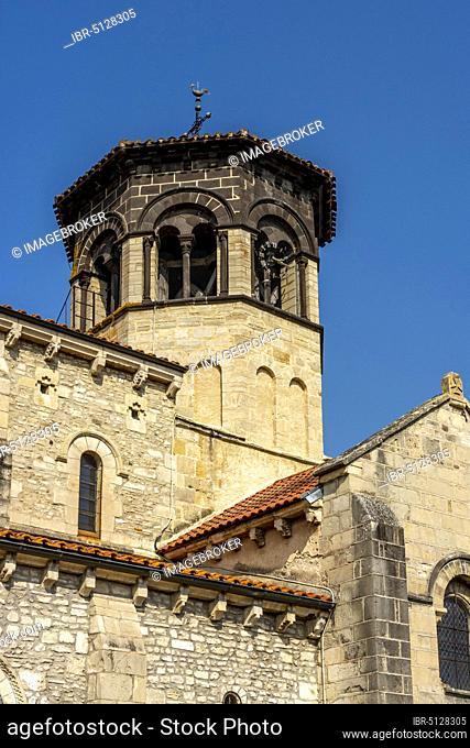 Romane church of Thuret, Puy de Dome department, Auvergne-Rhone-Alpes, France, Europe