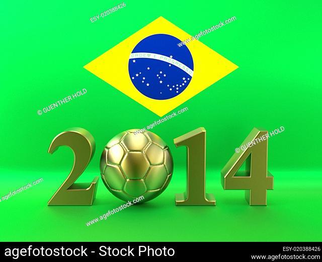 Soccer World Cup 2014 Brazil Flag