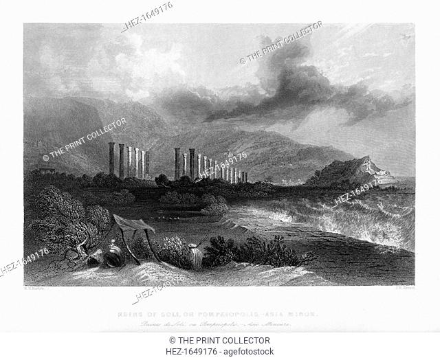 The ruins of Soli, or Pompeiopolis, Turkey, 1841. Soli was an ancient city and port in Cilicia, in present day Turkey, 11 km west of present day Mersina (near...