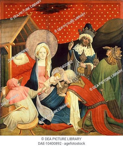 Adoration of the Magi, 1424, panel from the St Thomas Altar, by Master Francke (active ca 1424-1436), tempera on panel, 99x89 cm