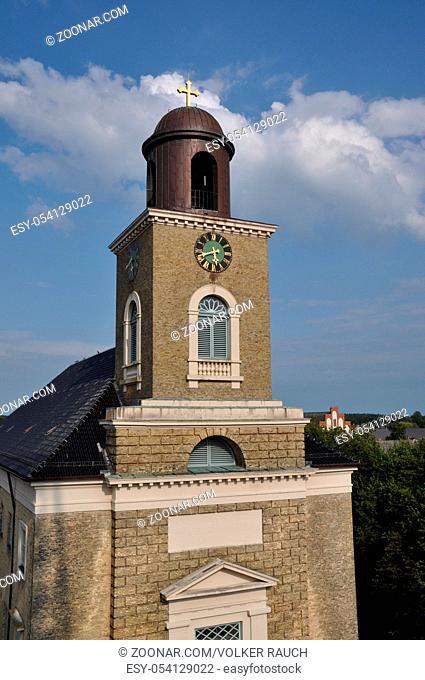 marienkirche, marktplatz, Husum, schleswig-holstein, nordsee, nord-friesland, nordfriesland, kirchturm, uhr, turmuhr