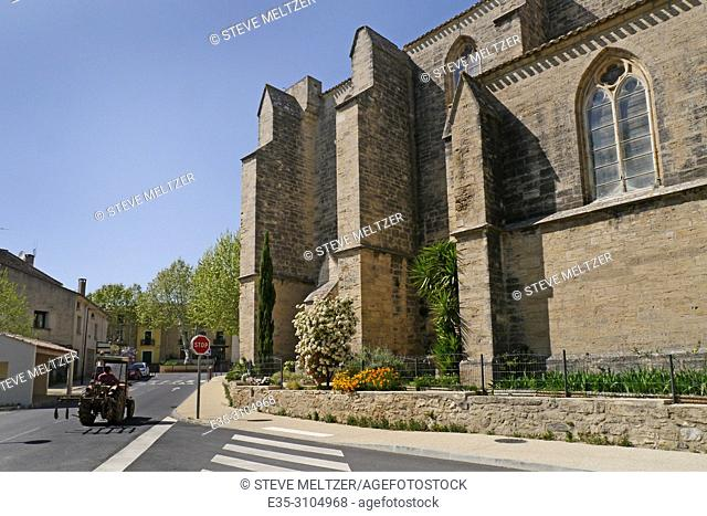 The 12th century church of Saint Saturnin in the rural French village of Tourbes