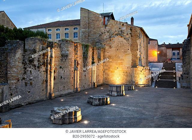 Ruins of ancient Abbey of Cluny, Cluny, Saone-et-Loire Department, Burgundy Region, Maconnais Area, France, Europe