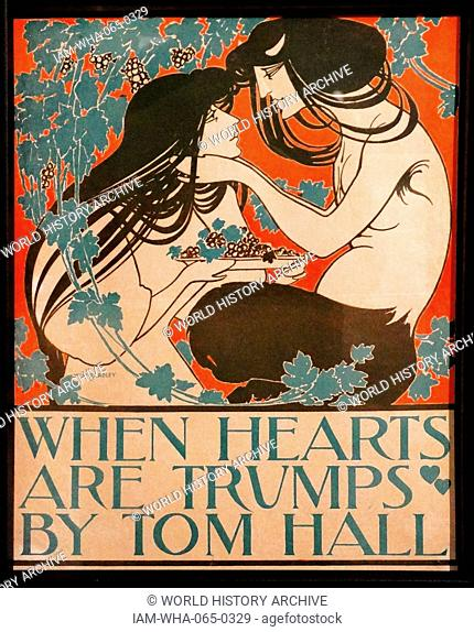 When Hearts are trumps 1894 by William Henry Bradley 1868-1962. Lithograph