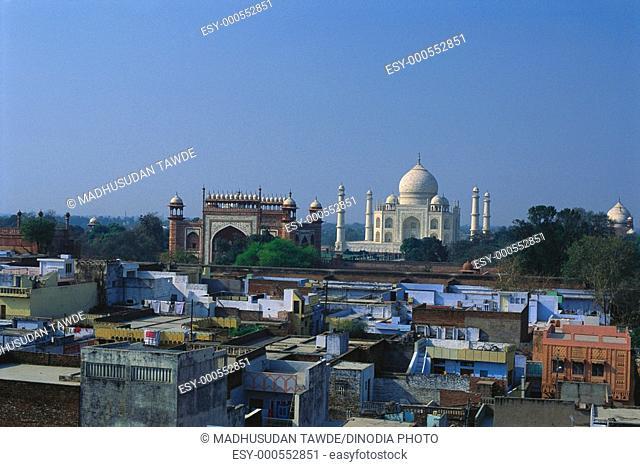 Seventh wonder of world Taj Mahal , Agra , Uttar Pradesh , India