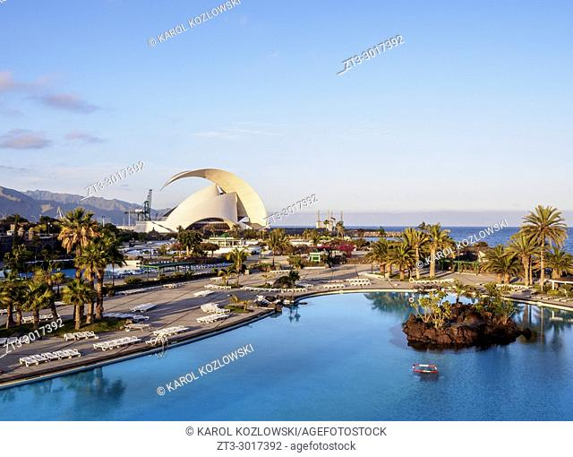 Parque Maritimo Cesar Manrique and Auditorium Adan Martin, Santa Cruz de Tenerife, Tenerife Island, Canary Islands, Spain