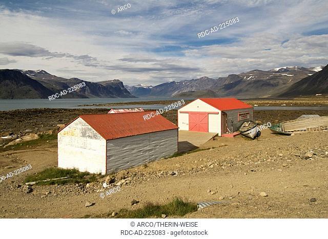 Former Hudson's Bay blubber station, Pangnirtung, Baffin Island, Nunavut, Canada