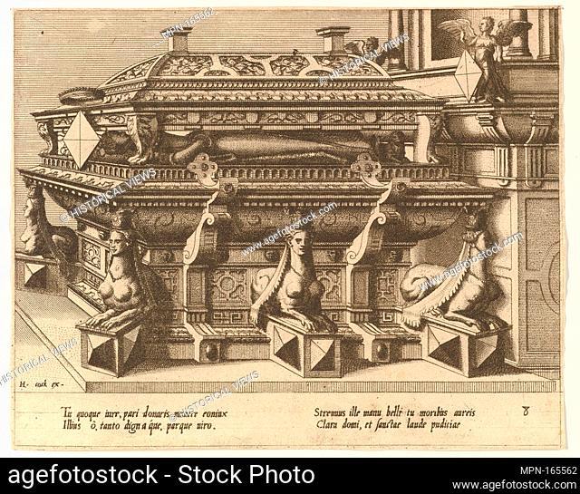 "CÅ""notaphiorum (8). Artist: Hans Vredeman de Vries (Netherlandish, Leeuwarden 1527-1606 (?) Antwerp (?)); Artist: Engraved by Johannes van Doetecum the elder..."