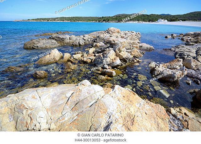 Sardinia, Italy beach in the Golfo di Marinella near Golfo Aranci