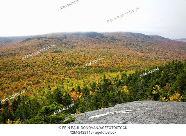 Scenic view from Pine Mountain in Gorham, Hampshire USA during the autumn months