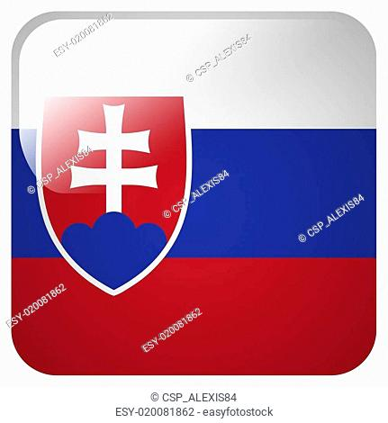 Glossy icon with flag of Slovakia