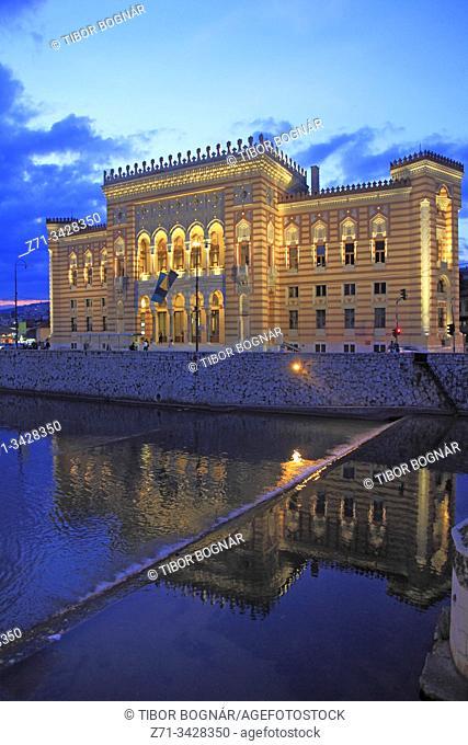 Bosnia and Herzegovina, Sarajevo, City Hall, Vijecnica