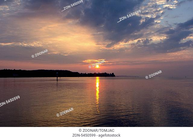 sunrise on lake of constance in constance