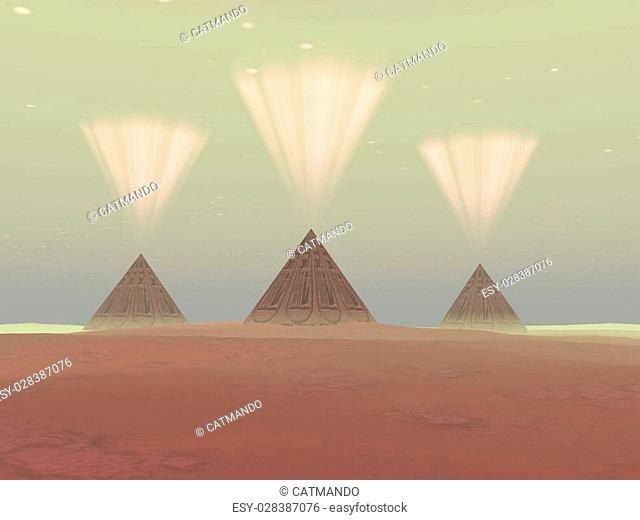 The lights from ancient pyramids join with the stars overhead