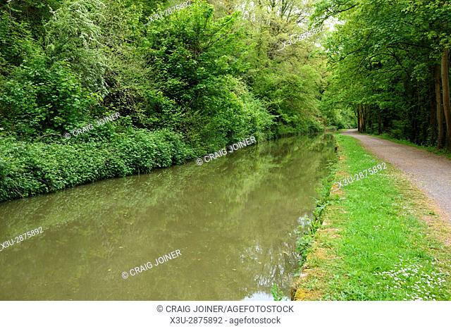 The Kennet and Avon Canal between Bradford and Avon and Bath in Wiltshire, England