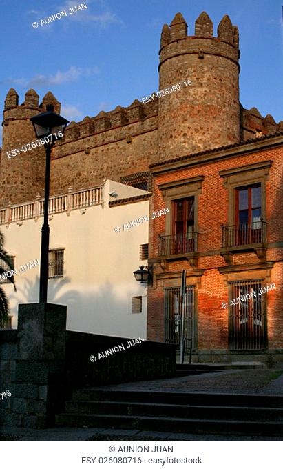 General view of the Palace of the Dukes of Feria, today the Parador de Zafra, Spain