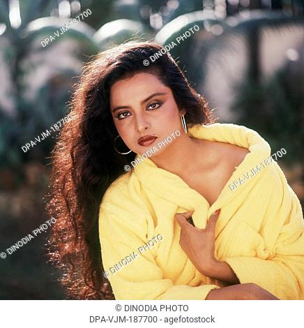 1981, Portrait of Indian film actress Rekha
