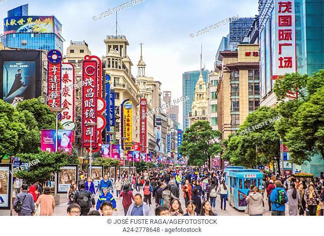China, Shanghai City, Nanjin Lu Avenue