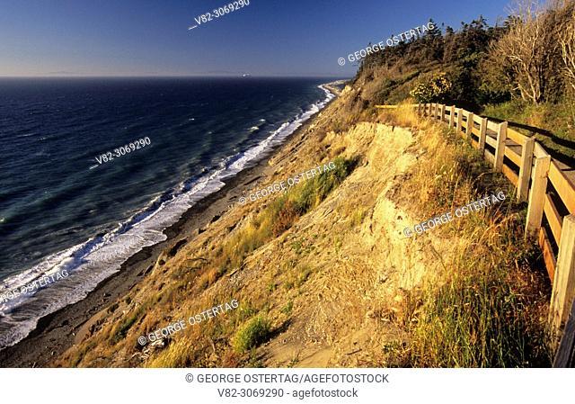 Strait of Juan de Fuca from Bluff Trail, Dungeness National Wildlife Refuge, Washington