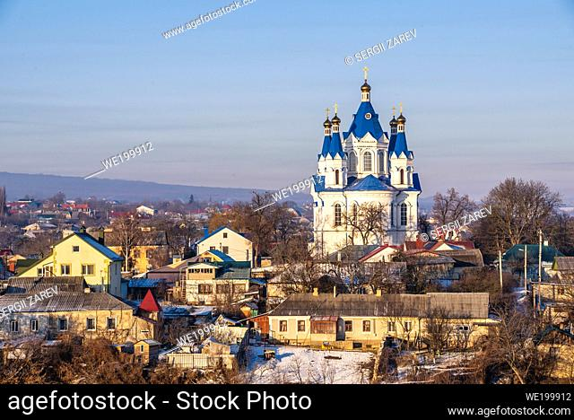 Kamianets-Podilskyi, Ukraine. St. George Church in Kamianets-Podilskyi on a sunny winter morning