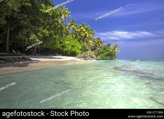 Seashore in Biyadhoo island, Maldives