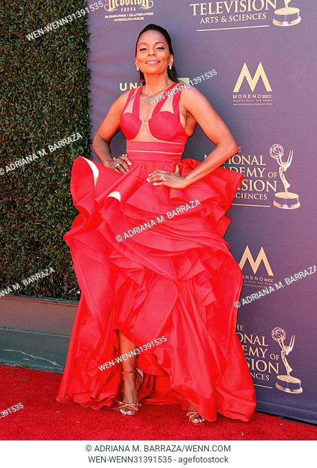 2017 Daytime EMMY Awards Arrivals held at the Pasadena Civic Center. Featuring: Jasmine Sanders Where: Los Angeles, California