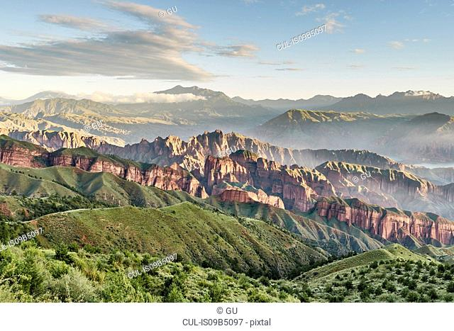 Kanbula Forest Park, Jainca, Huangnan, Qinghai Province, China
