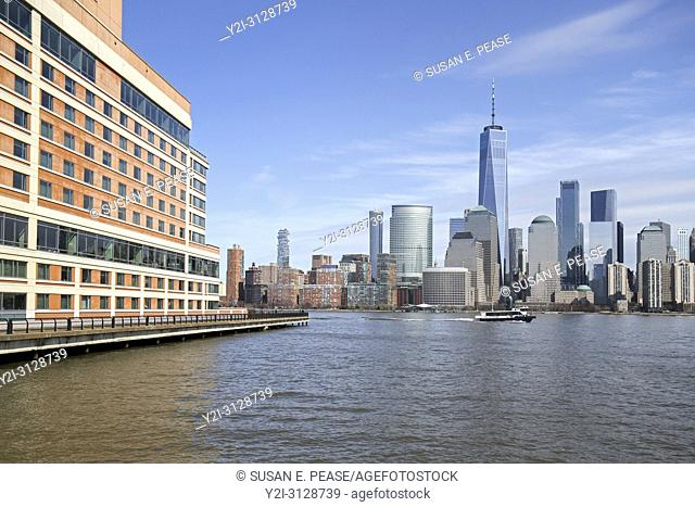 The Hyatt Regency Jersey City on the Hudson, Jersey City, New Jersey, overlooking Manhattan, New York City