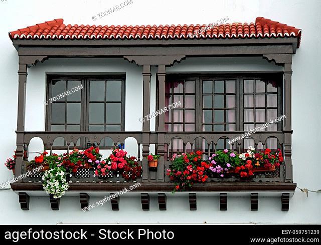 balkonhaus, balkon, Santa Cruz de La Palma, santa cruz, la palma, spanien, kanaren, kanarische inseln, stadt, hauptstadt, haus, bunt, balkonhäuser