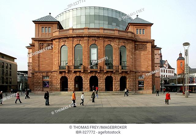 State theatre in Mainz, Rhineland-Palatinate, Germany