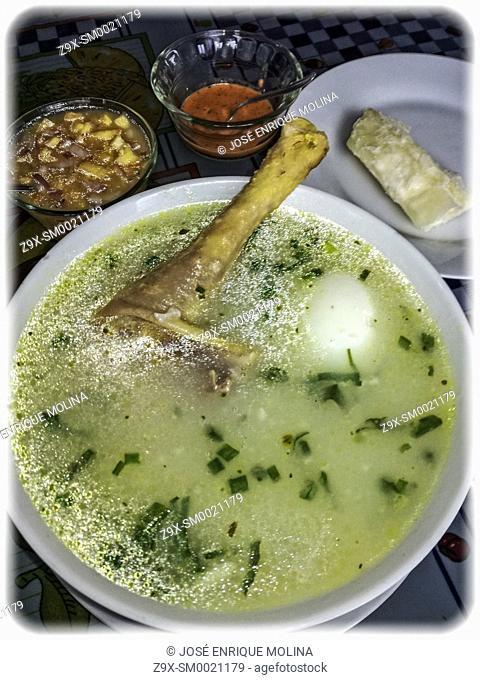Peruvian food in the Amazon. Peru