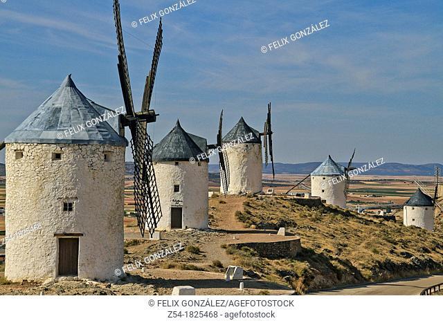 Windmills, Consuegra, Toledo, Castile La Mancha, Spain