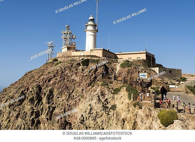 Lighthouse at Cabo de Gata, Almeria, Spain