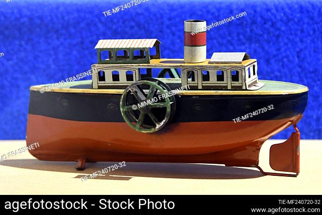 Ship in the exhibition titled ' Per gioco' from the collection of antique toys of the Capitoline Superintendence. It presents over 700 specimens of ancient toys