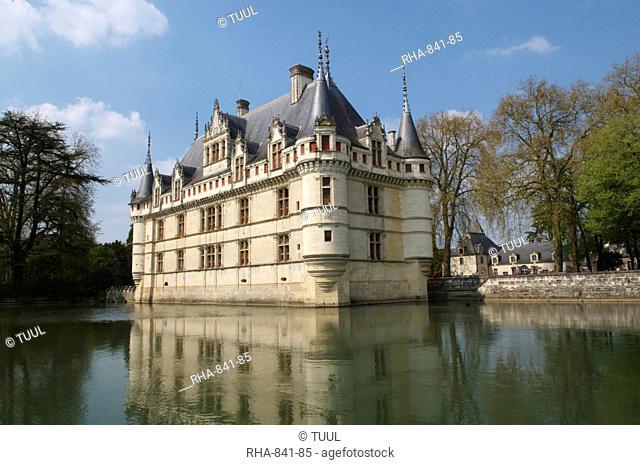 Azay le Rideau chateau, UNESCO World Heritage Site, Indre et Loire, Loire Valley, France, Europe