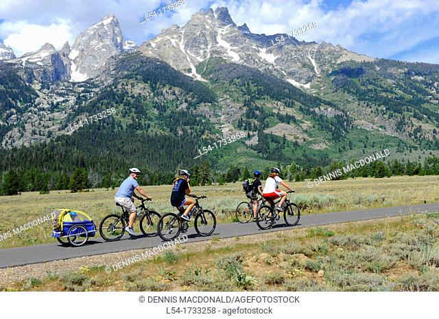 Bicycles Grand Teton National Park Wyoming WY United States