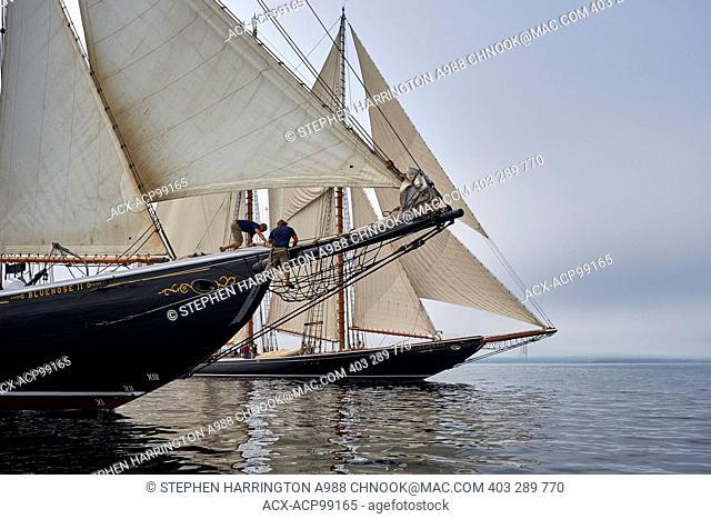 Bluenose II, Columbia II, Schooners, Lunenburg Harbour, Nova Scotia, Canada