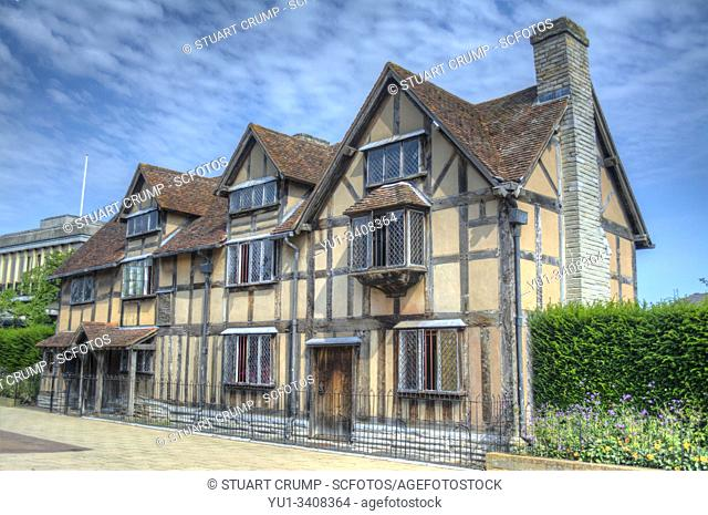Shakespears birthplace on Henley Road in Stratford-Upon-Avon UK