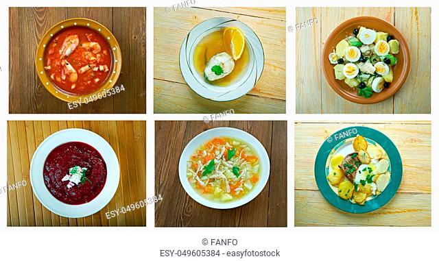 Food set. spanish and Portuguese traditional cuisine. closeup