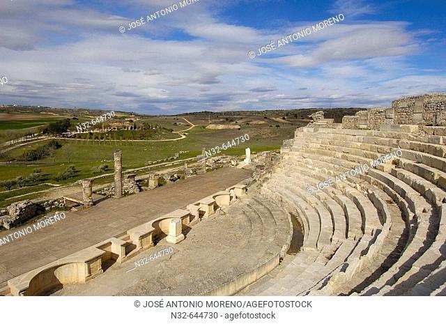 Roman city. Archaeological site of Segóbriga. Saelices. Cuenca province, Castilla-La Mancha. Spain