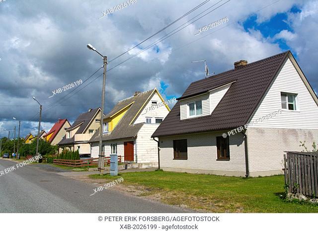 Detached homes suburb in Nooruse streett Kuressaare town Saaremaa island Estonia northern Europe