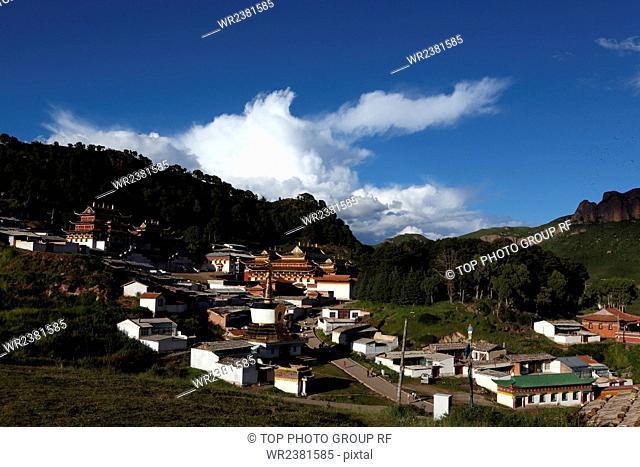 China Gansu Province Gannan Luqu County Langmusi Town Langmusi monks
