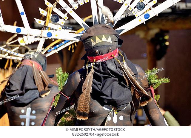 White Mountain Apache dancers at Indian Pueblo Cultural Center, Albuquerque, New Mexico, USA