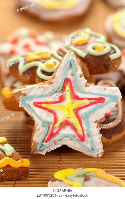 Star shaped gingerbread