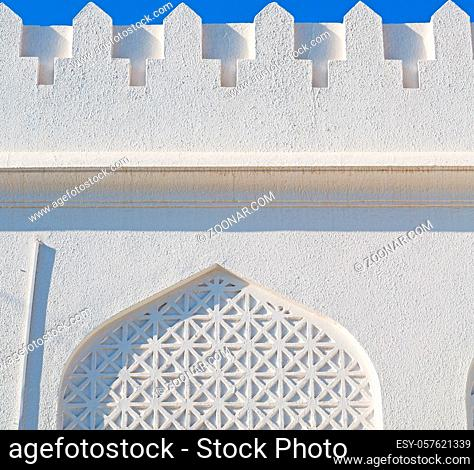 in oman the wall of big muscat mosque abstract background and antique