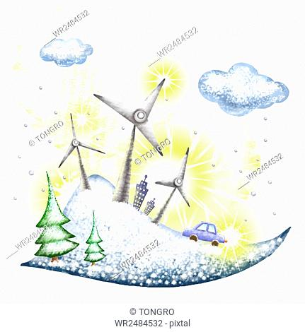 Saving energy and environmental protection in winter