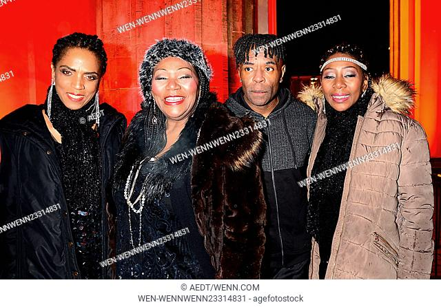 Celebrities celebrate the Silvesterparty on new year's eve at Brandenburger Tor Featuring: Boney M. Where: Berlin, Germany When: 31 Dec 2015 Credit: AEDT/WENN