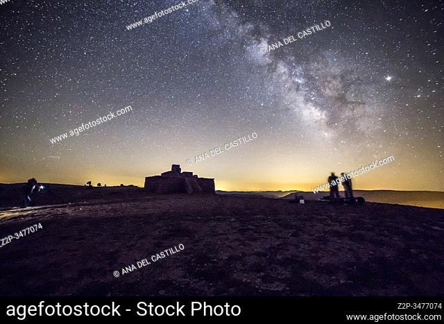 Milky way in Gudar mountains Teruel Aragon Spain