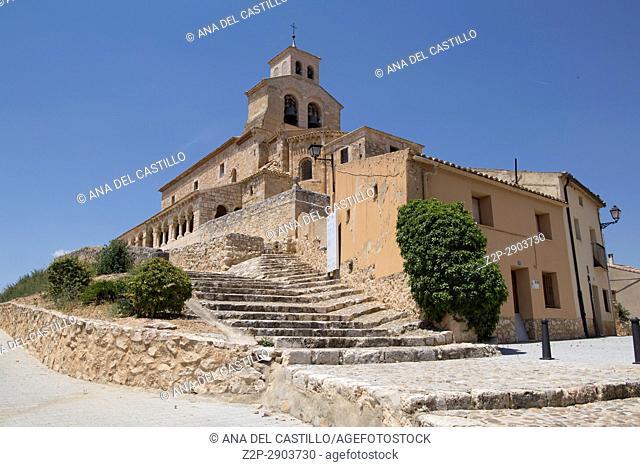 Our lady of Rivero church San Esteban de Gormaz village Soria province Castile Leon Spain on June 11, 2017